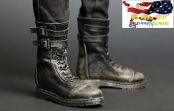 "1/6 Rambo Tactical Army Military Combat boots / 12"" Figure h"