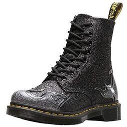 Dr.Martens Womens 1460 Pascal Flame Synthetic Black Pewter B