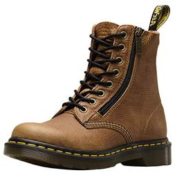 Dr.Martens Womens 1460 Pascal W/Zip Grizzly Leather Tan Boot