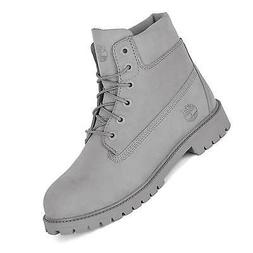 Timberland 6 Inch Premium Boot Grey Nubuck Winter Boots for
