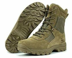 """RYNO GEAR 8"""" Coolmax Tactical Combat Boots, Coyote, Size 11."""