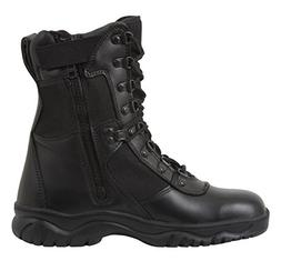 Rothco 8'' Forced Entry Side Zip Tact Boot, Black, 9