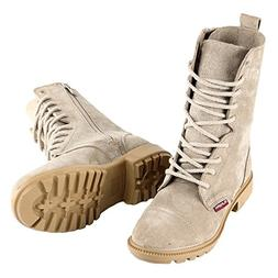 BURGAN 832 Desert Combat Boot - All Suede Leather with Side
