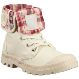 Palladium Women's Baggy Canvas Boot,10 B US,Ecru