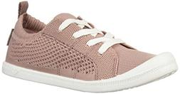 Roxy Women's Bayshore Knit Slip On Fashion Sneaker, Blush, 8