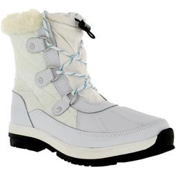 Bearpaw Girl's Bethany Girl's White Ankle-High Leather Boot