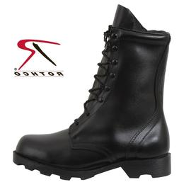 "Black Leather 10"" Combat Boot Speedlace GI Type 5094 Rothco"