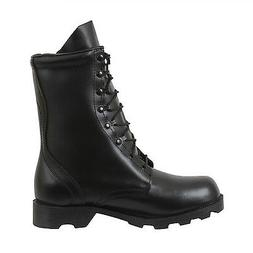 black leather speedlace military combat boots 5094