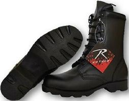 Black Leather Speedlace Military Combat Boots Great For Cons