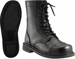 Black Military Leather Boots, Tactical Combat Uniform Boots