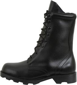 "Black Speedlace Combat Boots 10"" Leather Military Tactical A"