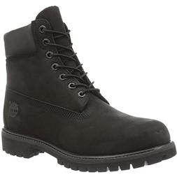 Timberland Boy's 6 Inch Premium Boot Nubuck Black Ankle-High