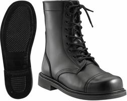BOOTS Black Combat Steel Shank Leather Tactical Military ROT