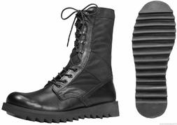 "Boots Combat Jungle Ripple Sole Black Military 10"" ROTHCO 50"