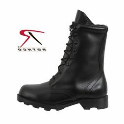 "BOOTS Speedlace Black Leather Army Military COMBAT10"" Rothco"