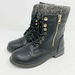 Brand New Pair Of Link Mango 31K Little Kids Combat Lace-up