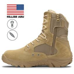 "Bufferzone® Men's 8"" Desert Tan Military Combat Tactical"