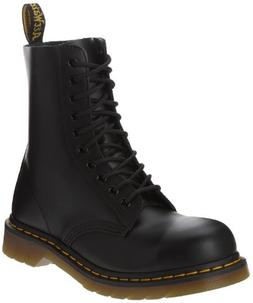 Dr. Martens Classic 1919 Steel Toe Boot,Black Fine Haircell,