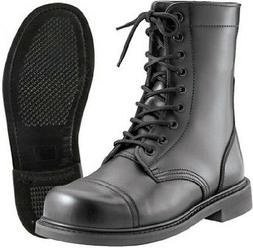 "Combat Boots Black Military Style 9"" Leather Combat Boots Ju"