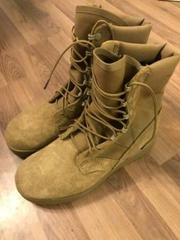 Army Combat Boots, Coyote, Hot Weather, 8.5W, NEW