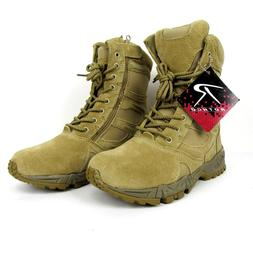 Combat Boots Mens 7 Rothco Deployment Desert Tan Military Bo