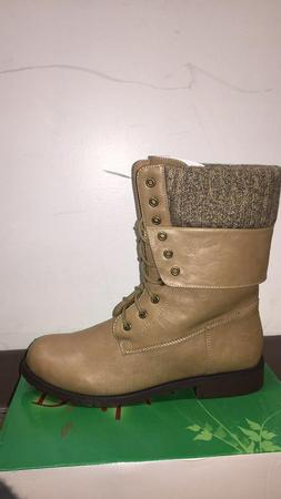 DailyShoes Womens Military Up Buckle Combat Boots Ankle Mid