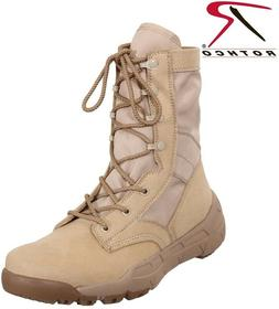 Desert Tan Military Boot Lightweight V-Max Combat Boots Roth