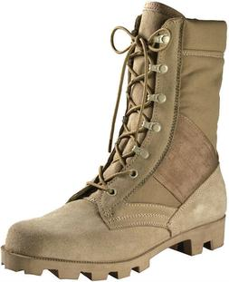 Desert Tan Speedlace Military Style Combat Boots with Panama