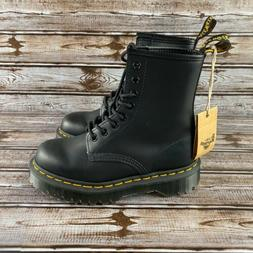 Doc Dr Martens 1460 Black Smooth Leather Boots 8 Eyelet Lace