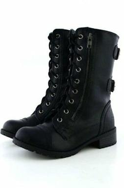 fee6d53b1bb3 Soda Dome Mid Calf Height Women s Military   Combat Boots