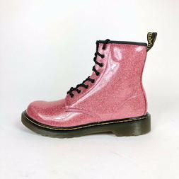 Dr Doc Martens Pascal Glitter Combat Ankle Boots Pink Womens