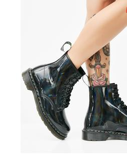 dr martens 1460 rainbow patent leather boot