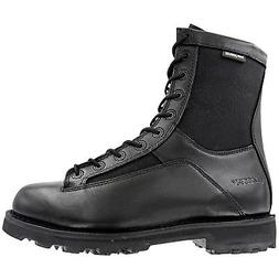 Bates DuraShocks 8 Inch Lace-to-Toe Zip Black Mens Leather C