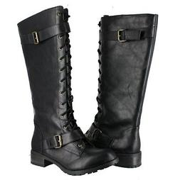 SODA FASHION BOOTS ELLI-S COLOR: BLACK COMBAT BOOTS