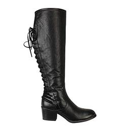 Peize Fashion Women Classic Solid Leather High Heels Boots L