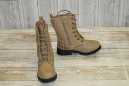 Gia-Mia Star Combat Boots - Little Girl's Size 13, Tan NEW!