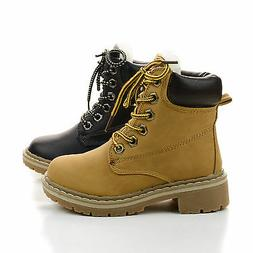 Girls boots.Kid Children's Lace Up Work Ankle Boots toddler