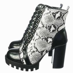 Glenna05 Laced Up Ankle High Bootie - Womens Dressy Military
