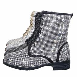 glisten26k childrens rhinestone embellished bootie girl lace