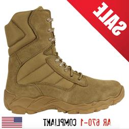 "CONDOR GORDON 8"" COYOTE LEATHER MILITARY COMBAT BOOTS  SALE!"