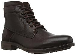 Steve Madden Men's Hardin Combat Boot, Brown Leather, 10.5 U