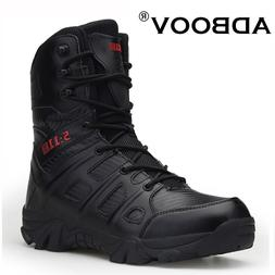 ADBOOV High Top Black Military Combat <font><b>Boot</b></fon