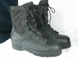 Wellco Insulated Leather Combat Black Boots--Size:5R Size:7R