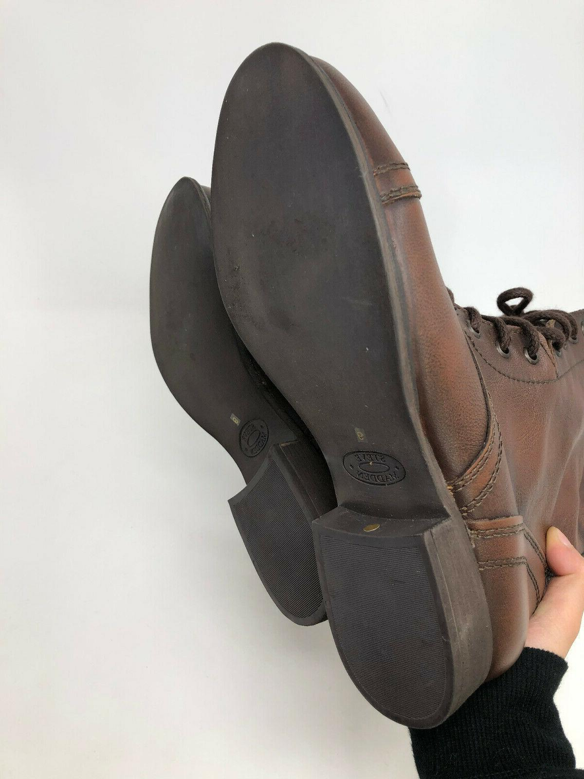 Steve Troopa Leather Boots Brown Cap NEW