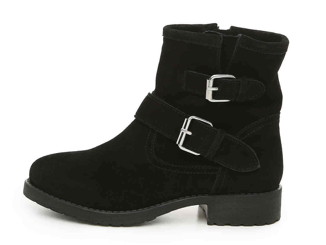 alick womens black suede high zip up