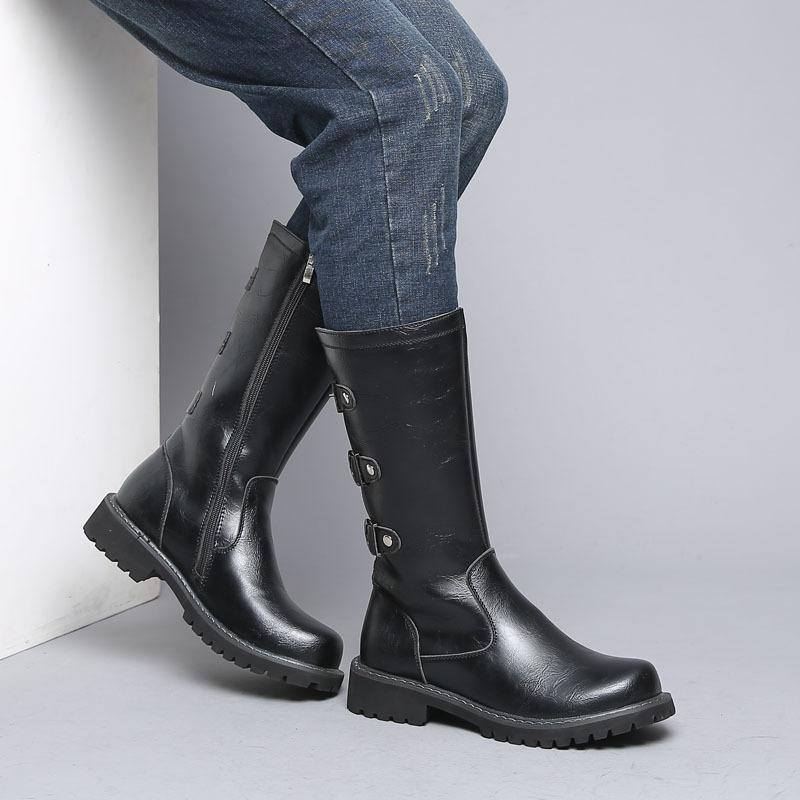 OUDINIAO Army High Military Metal Mid <font><b>Boots</b></font> Men's Rock