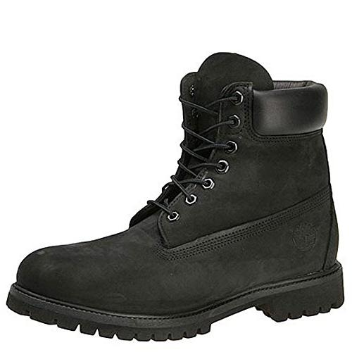 boot leather black anklehigh