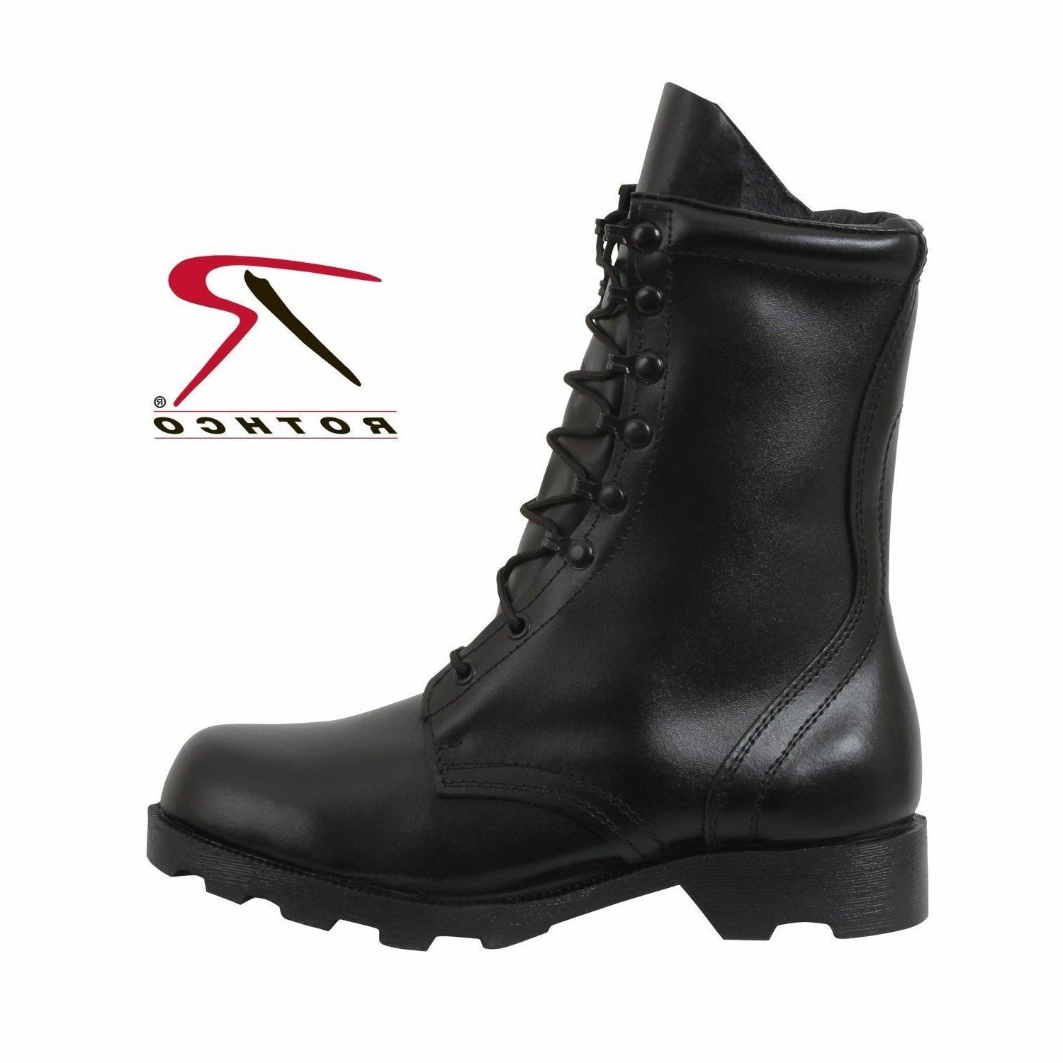 boots speedlace black leather army military combat10