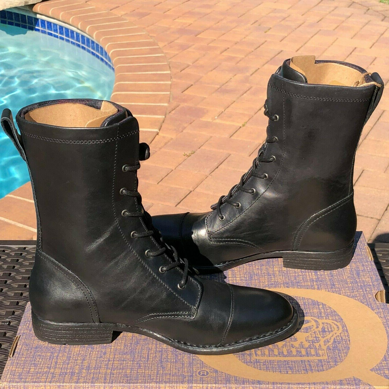 Born Size 8.5, & Black Leather Toe Boots $150