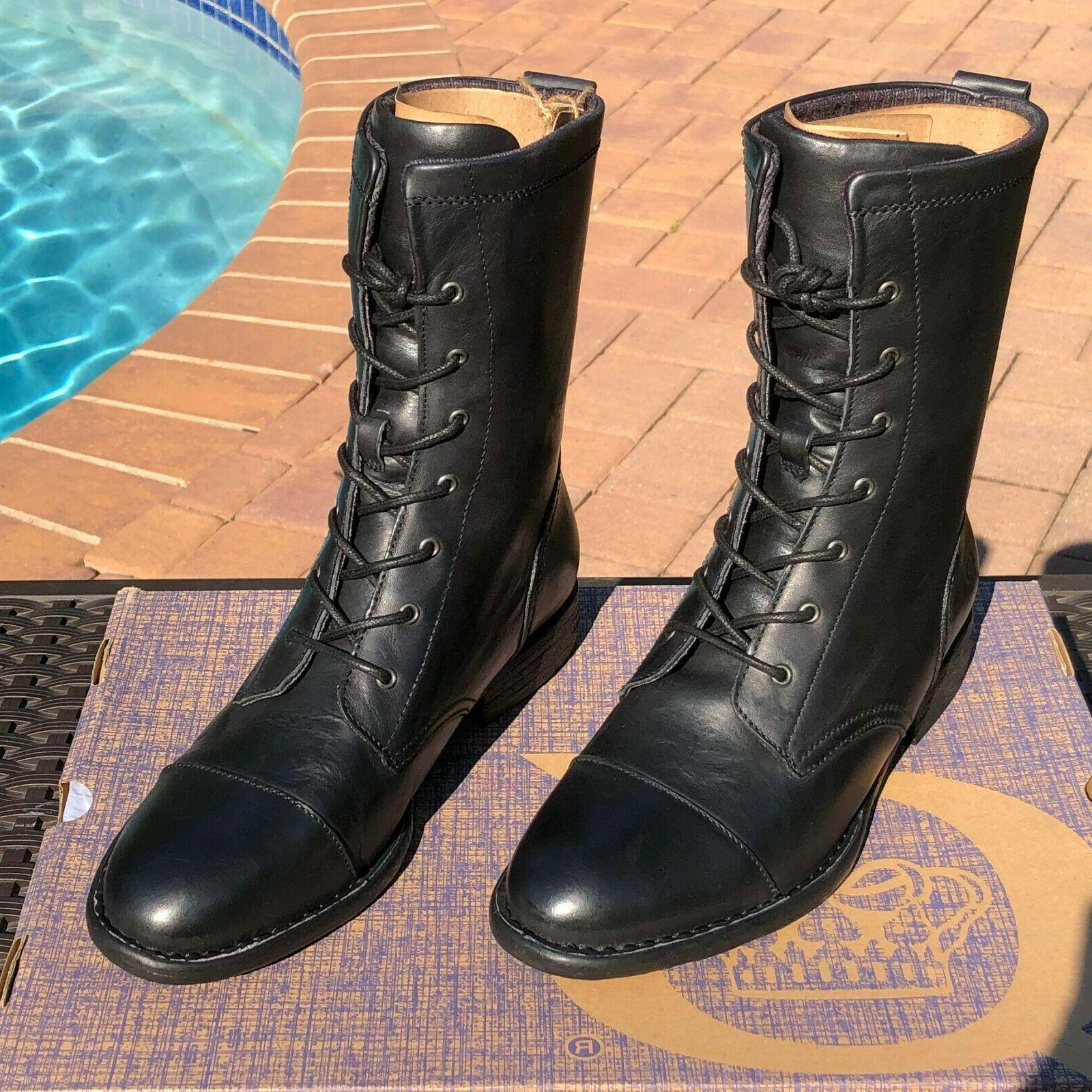 Born Neon 8.5, & Leather Toe Combat Boots $150